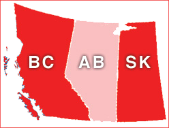 BC, Alberta and Saskatchewan